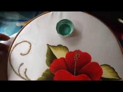 Pintura en tela carpeta tulipanes # 2 con cony