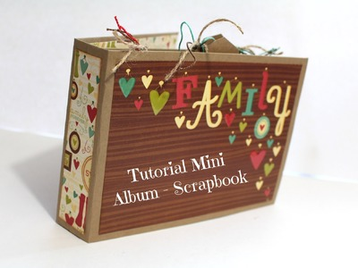 Tutorial Mini Album Scrapbook en español encuadernación de espina * Creaciones Izzy