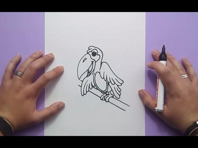 Como dibujar un pajaro paso a paso 4   How to draw a bird 4