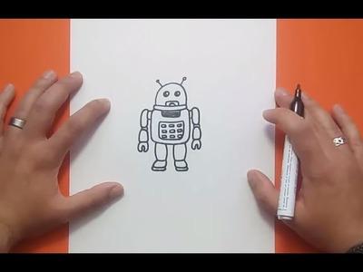 Como dibujar un robot paso a paso 10 | How to draw a robot 10