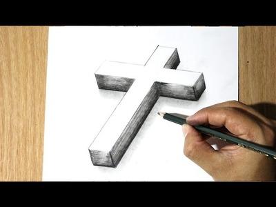 Como Dibujar una Cruz -  How to Draw a cross - Como Dibujar a Jesus
