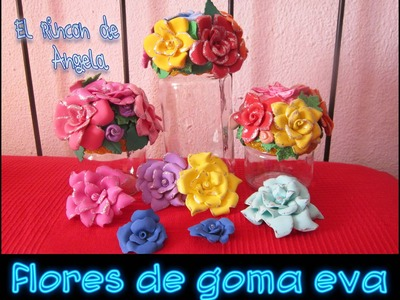 Como hacer flores de goma eva o foami para decoracion