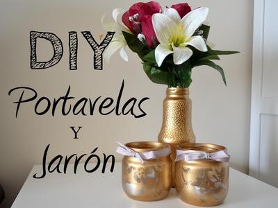 DIY | DECORACIÓN | RECICLAR TARROS DE CRISTAL ! Rosa Pastel