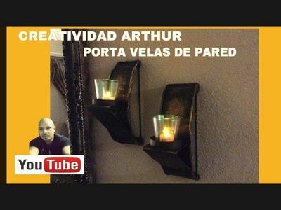 DIY decorando tu casa porta velas de pared DIY DECORATING YOUR HOME WALL CANDLEHOLDERS