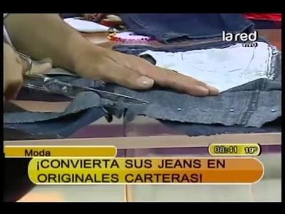 Fred Redondo nos enseña en 3 pasos a transformar un jeans en una cartera (Parte 2)