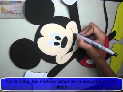 Mickey Mouse en Foamy o Goma Eva