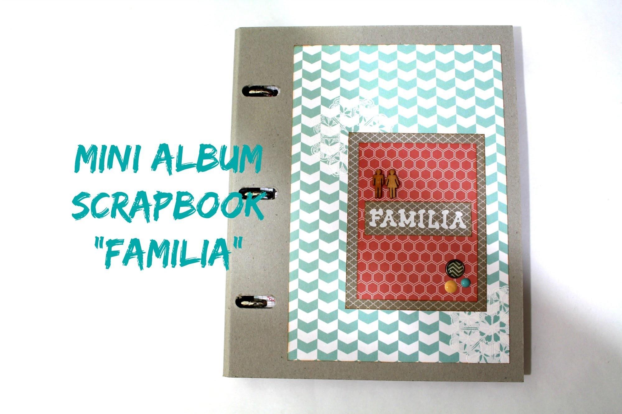 """Mini album scrapbook """"Familia"""" Teresa Collins y Libreta para notas * Creaciones Izzy"""