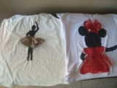 Personalizar con apliques y tules las camisetas o blusas. PASO A PASO