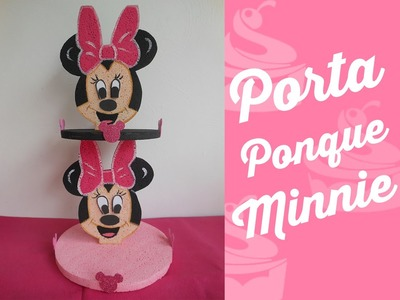 Porta Ponque Minie Mouse  (Holder Cupcakes Minie Mouse )