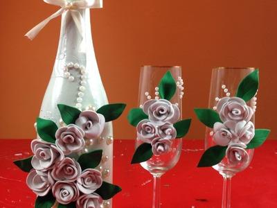 Sencilla decoración botella para bodas Simple bottle decoration for weddings