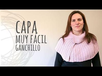 Tutorial Capa Fácil y Rápida Ganchillo | Crochet