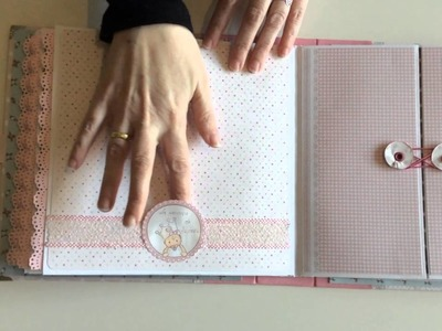 Álbum bebé  niña dayka  scrap estilo dulce. (Lucía)