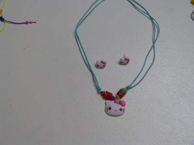 Caritas de Hello  Kitty  en  Porcelanicron, utiles para collares, decoracion de Lazos cabello