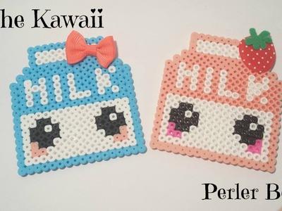 ☆CARTÓN DE LECHE KAWAII de Hama Beads (Perler Beads). MILK KAWAII ☆