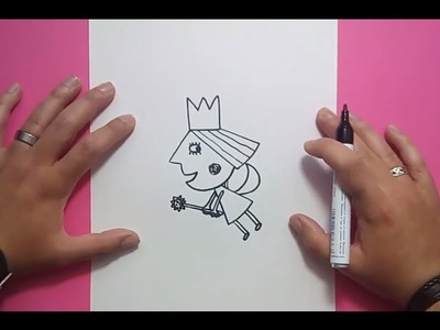 Como dibujar a Holly paso a paso - El pequeño reino de Ben y Holly | How to draw Holly