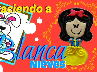 Como hacer a Blanca Nieves de Bombón - How to make a marshmallow Snow White