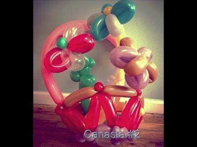 Como hacer una canasta con globos #2