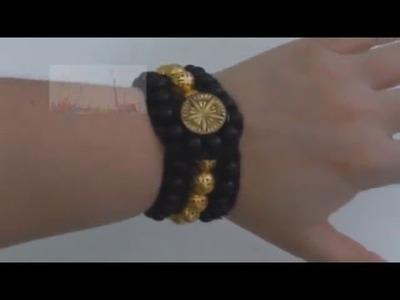 Como hacer una pulsera tipo Wrap (versión breve)
