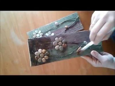 Cuadros con piedras y material reciclado - Tips de felicidad