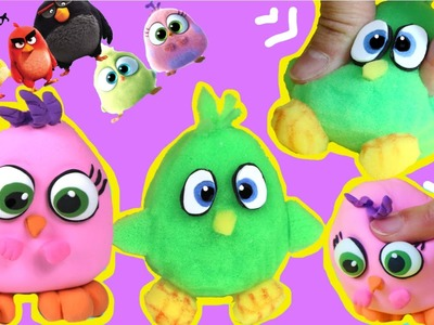 DIY Squishy anti-stress ball de Angry Birds con masa elástica