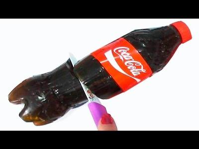 Gummy bottle en español. Gominolas de coca cola diy. Botella de gominola de gelatina
