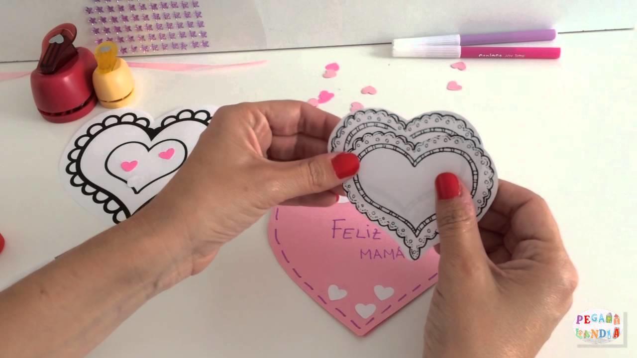 """♥ ¡DÍA DE LA MADRE! Le decimos """"Te quiero"""" a nuestra mamá con una preciosa tarjeta. ♥"""