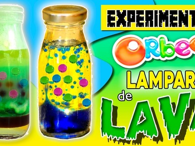 LAMPARA de LAVA de ORBEEZ * Experimento de DENSIDAD de los LÍQUIDOS