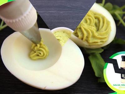 Receta huevos rellenos con sour cream
