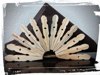 Servilletero con pinzas de madera