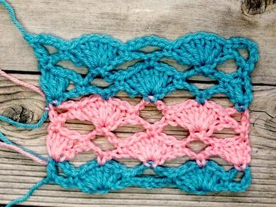 Un patron en crochet para covijas, bufandas y otras prendas