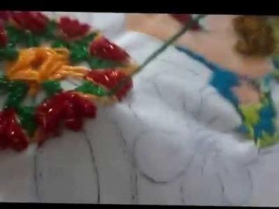 Bordado fantasia puntada flor sol de gusanitos marimur 623