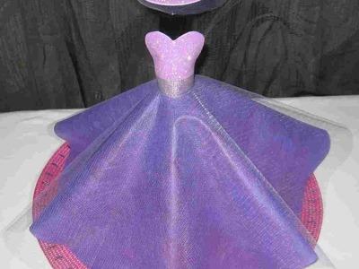 Centro de mesa botella vestida 15 años