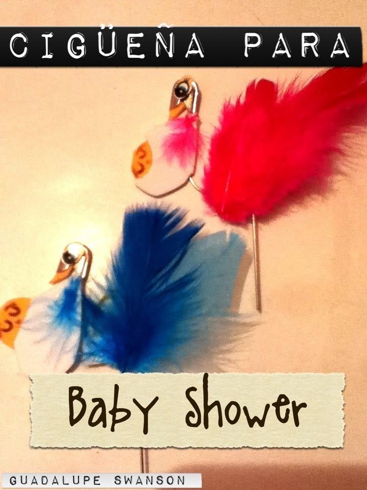 Cigüeña de seguros para Baby Shower
