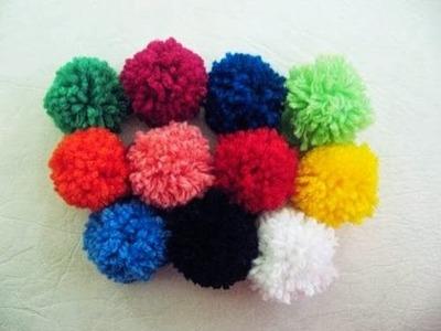 Cómo hacer pompones de lana | Crea Para Ti