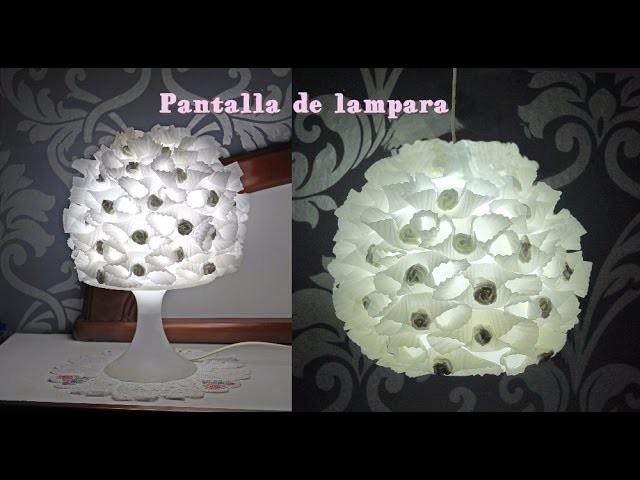 Como hacer una pantalla de papel para lampara