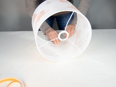Como hacer una pantalla para lámpara