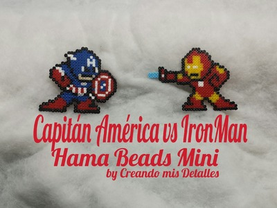 DIY Cápitan Ámerica e Ironman de Hama Beads Mini