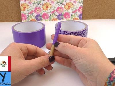 Flor de cinta adhesiva | Decoración para lápices | Ideas para la primavera