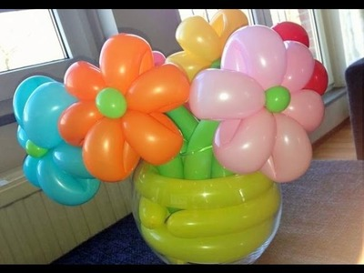 Flores de globos - regalo para dia de madre facil y hermoso