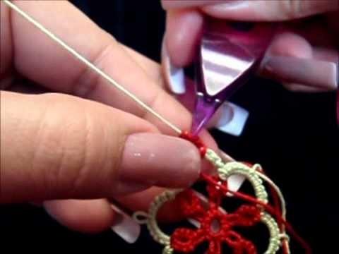 Frivolite-Tatting Lesson 42 - mock split ring