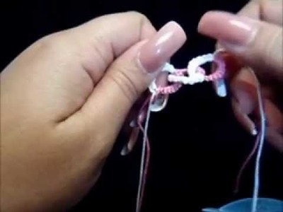 Frivolite-tatting lesson 78 - anillos divididos entrelazados - interlocking split rings 1