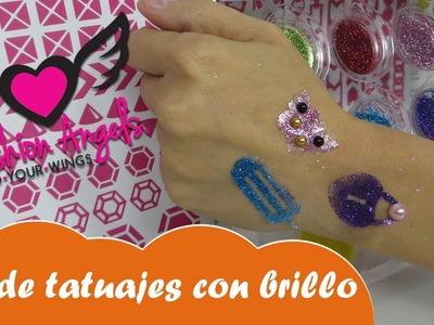 Kit de tatuajes con brillo Fashion Angels como hacer tatuajes de Nabumbu Mundo juguetes