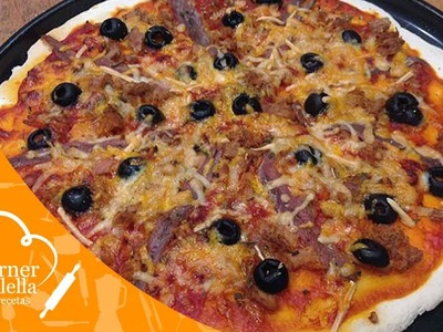 Pizza sin Gluten de Atún y Anchoas