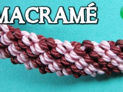 Pulsera macramé Rayas   bracelet   iniciacion