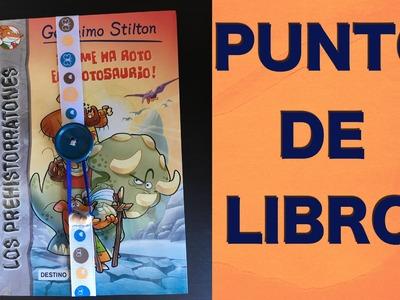 Punto de libro con cinta y boton
