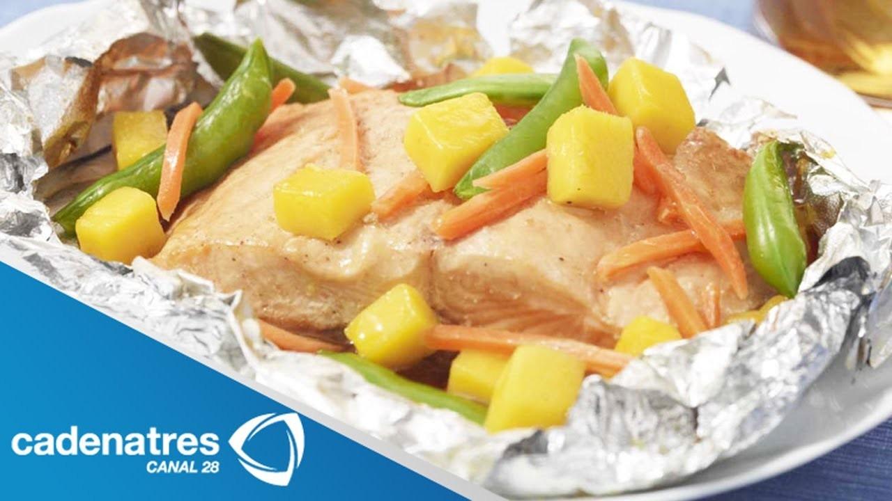 Receta de Pescado al Vapor con Verduras. Comida para bajar de peso
