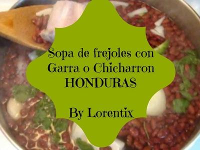 Sopa de frejoles de Honduras