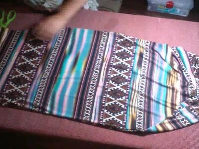 Vestido largo con abertura en la pierna fácil de confeccionar