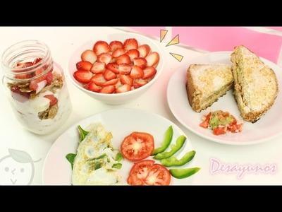 4 Desayunos Saludables | REGRESO A CLASES | Akari Beauty