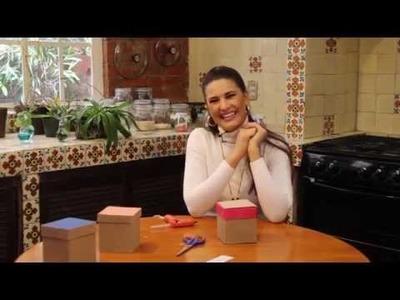 Cajita para regalo con cartón reutilizado